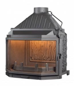 Ketinis židinio ugniakuras Seguin Hexa 8 | su prizminiu stiklu Židiniai, pirties krosnelės