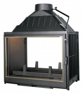 Ketinis židinio ugniakuras Seguin Multivision 7000 | su dviem fasadais 16-22.4 kW Židiniai, pirties krosnelės
