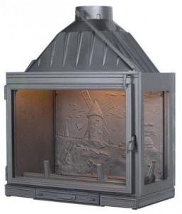 Ketinis židinio ugniakuras Seguin Multivision 8000 | su stiklu dešinėje Židiniai, pirties krosnelės