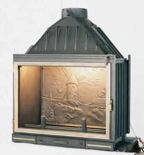 Ketinis židinio ugniakuras Seguin Multivision 8000 | su tiesiu stiklu Židiniai, pirties krosnelės