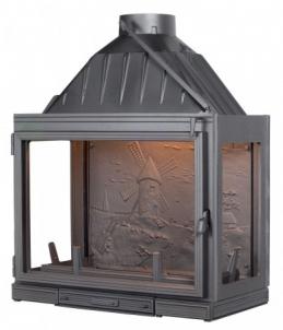 Ketinis židinio ugniakuras Seguin Multivision 8000 | su trim stiklais Židiniai, pirties krosnelės