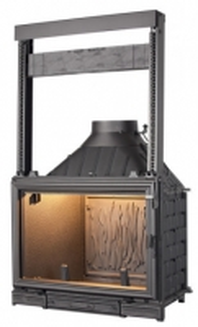 Ketinis židinio ugniakuras Seguin Sunflam su pakeliamu stiklu 12-19,5 kW Židiniai, pirties krosnelės