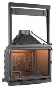 Ketinis židinio ugniakuras Seguin Super 8 su pakeliamu stiklu Židiniai, pirties krosnelės