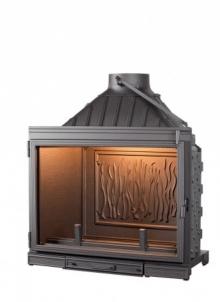 Ketinis židinio ugniakuras Seguin Super 8 su tiesiu stiklu 16-22,5 kW Židiniai, pirties krosnelės