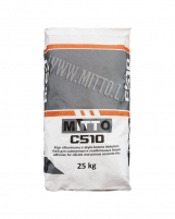 Adhesive for silicate and porous concrete tiles MITTO C510 25kg Glued dry mixes