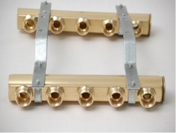 Kolektorius 3 žiedų, nereguliuojamas, su nipeliais Non-adjustable manifolds