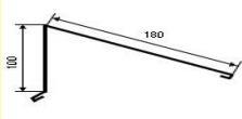Kraigas vienšlaitis 100x180 mm (poliesteris) spalvotas