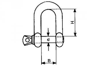 Lankas lynui d-8 Rope, hoop, galvanized
