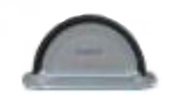 Latako galinis dangtelis su tarpine apvalus 125 mm (cinkuotas) Latakų dangteliai