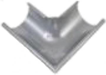 Latako kampas išorinis 125 mm apvalus (cinkuotas)