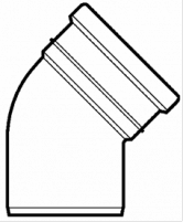 Lauko kanalizacijos alkūnė Wavin, d 160, 15*