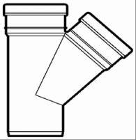 Lauko kanalizacijos trišakis Wavin, d 200-110, 45*