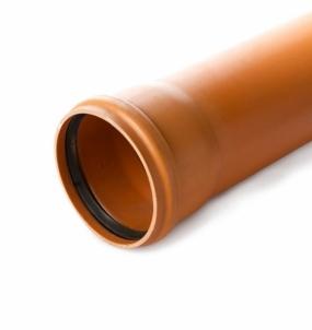 Lauko kanalizacijos vamzdis Wavin N klasė, d 110-3.2-6000 mm The sewer pipes