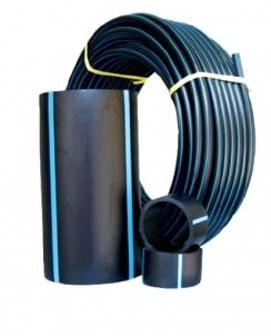 Lauko vandentiekio vamzdis HAKA PE100, d 50-3.7 mm, PN10 Āra sanitārtehnikas caurules