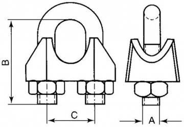 Lyno suspaudiklis DIN741, su grioveliu d-11 Lyno suspaudikliai DIN741, su grioveliu, cinkuoti