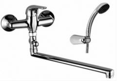 Maišytuvas vonios S-LINE ilgu snapu + dušo komplektas.