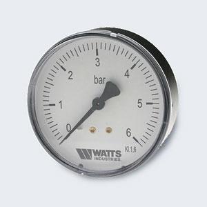 Manometras 1/4'' 10barų paj.viduryje MDA 63/10 Technical pressure gauge