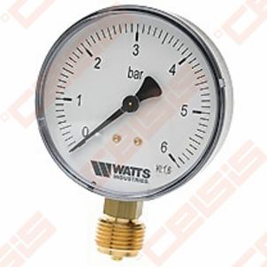 Manometras 1/4'' 16barų paj.šone MDR 63/16 Technical pressure gauge