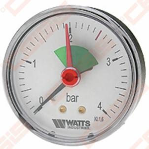 Manometras 1/4'' 4barų paj. viduryje MHA 63/4 Technical pressure gauge