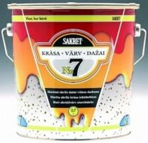 Matiniai akriliniai dažai SAKRET 7 (C bazė) 2,7 ltr.