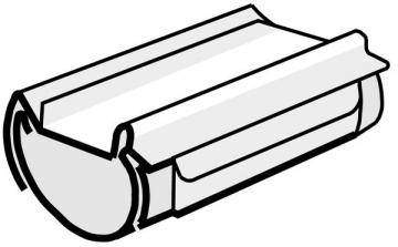PLASTMO Kompensacinė latakų jungtis (Nr.10) 100 mm (juoda) Vadu savienotāji