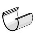 PLASTMO Latako jungtis klijuojama (Nr.10) 100 mm (grafitinė) Latakų jungtys