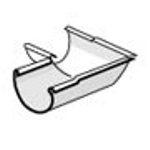 PLASTMO Latako kampas vidinis (Nr.10) 100 mm (pilkas) Latakų kampai