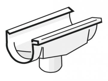 PLASTMO Latako nuolaja kompensacinė (Nr.10/75 mm) balta