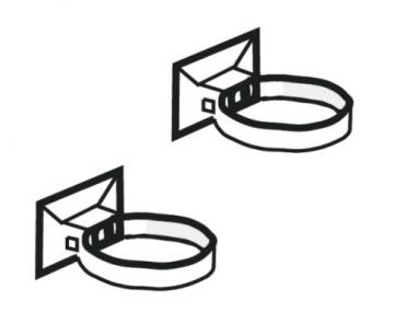 PLASTMO Lietvamzdžio laikiklis (Nr.10) 75 mm (juodas)