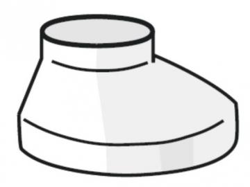 PLASTMO Šulinėlio dangtelis (Nr.10) 75/110 mm (baltas)
