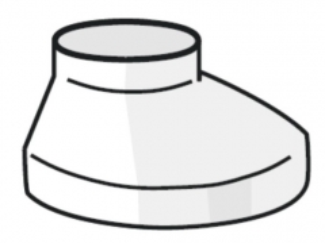 PLASTMO Šulinėlio dangtelis (Nr.10) 75/110 mm (rudas)