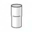 PLASTMO lietvamzdžio jungtis (Nr.10) 75 mm (juoda) Lietvamzdžių savienojumi