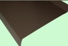 Palangė 100 mm (dengta poliesteriu) spalvota Komplektavimo detalės metalinei (skardos) dangai