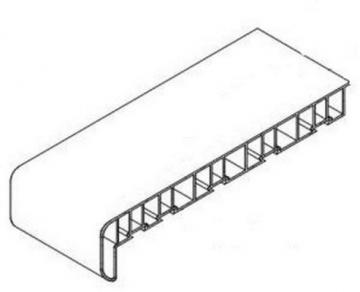 Palangė PVC DECEUNINCK 250 mm, baltos spalvos, pjauta PVC palangės
