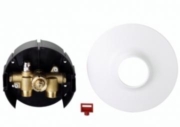 Pamaišymo vožtuvas grindiniam šildymui su apvaliu dangteliu FHV-R, 3/4'' Apkures sistēmu pārvaldību