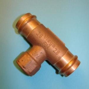 Pereinamas trišakis VIEGA Profipress, d 22-1/2''-22 Copper tees