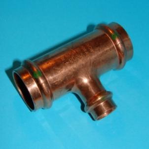 Pereinamas trišakis VIEGA Profipress, d 22-15-22 Copper tees