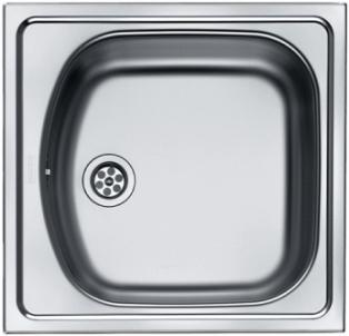 Plieninė plautuvė FRANKE EUROSTAR ETN 610 (i) Nerudyjančio tērauda virtuves izlietnes