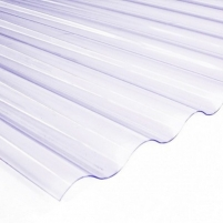 Plate PVC sinus 900x3000 mm transparent Pvc and polycarbonate sheets