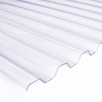 Plate PVC trapezoidal 900x2000 mm transparent Pvc and polycarbonate sheets