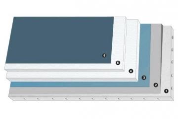 Expanded polystyrene EPS80 (1000x1000x100) Half-interfitting edge