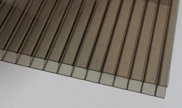 Polikarbonato plokštė 10x2100x6000 mm (12.6 m²) bronzinė, pjaustomas ilgis 2-3-4-6m, plotis 2.1-1.05m PVC ir polikarbonato lakštai