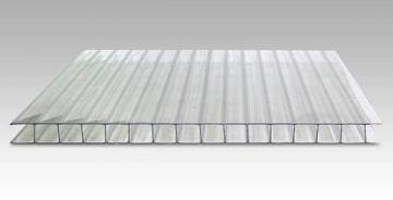 Polikarbonato plokštė 4x2100x6000 mm (12.6 m²) skaidri, pjaustomas ilgis 2-3-4-6m, plotis 2.1-1.05m PVC ir polikarbonato lakštai