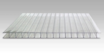 Polikarbonato plokštė 4x2100x6000 mm (12,60 kv.m) skaidri Pvc un polikarbonāta loksnes