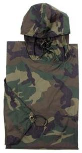 Pončas - palerina Rip-Stop Woodland kamufliažas Speciālie apģērbi