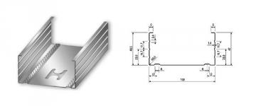 Profilis CW-100/50 4,00 m (0,5 mm) Profiliai (GKP, glaistymo, tinkavimo)