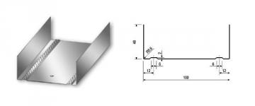 Profilis U-100 4,00 m Ģipša padome nosaka elementus
