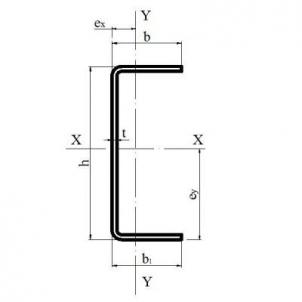 Profilis 'U' 40x125x40x1.0 Profiliai U, cinkuoti