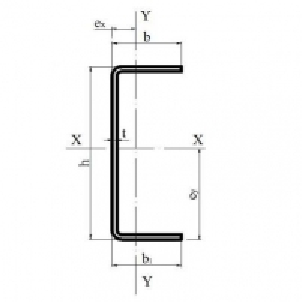 Profilis 'U' 40x150x40x0.8 Profiles u, galvanized