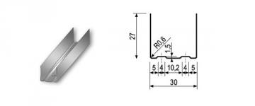 Profilis UD-30 4,00 m Profiles (plastering, plastering, plaster board)